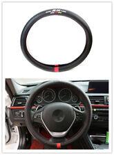 1Pcs For Mugen Power Black Carbon Fiber Luxury Car Non-Slip Steering Wheel Cover