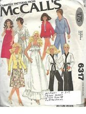 McCall's 6317 Doll Wardrobe for Donny & Maria Osmond Dolls & More Vtg 1978