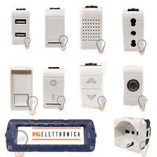 BTICINO LIVING LIGHT COMPATIBILE BIANCO PRESA SCHUKO TV PULSANTE DEVIATORE USB