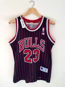 Vintage Michael Jordan Chicago Bulls Champion EU NBA Jersey Pinstripes