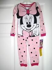 TODDLER GIRLS DISNEY MINNIE MOUSE LONG SLEEVED PAJAMAS SIZE 4T