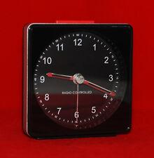 Funkwecker Analog in Schwarz Silber mit Beleuchtung Wecker Uhr NEU/OVP