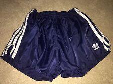 Vintage Condition Adidas Shiny Satin Sprinter Shorts Blue Medium D6