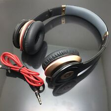 Used Original Monster Beats by Dr Dre Solo HD Headphones GOLD special edition