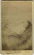 PHOTO ANCIENNE - CDV - POST MORTEM ENFANT MORT ALBUMINÉ - Photo de cabinet -DEAD
