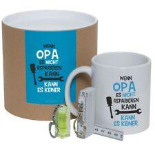 Geschenkset / Dose EXKLUSIV für Opa, Geschenk für Opa, Tasse OPA, 3teilig SET