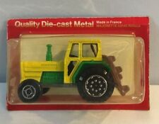 NIP VTG Majorette 69140 Rillieux Green & Yellow Tractor Tracteur Made In France