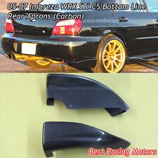 CS Style Rear Bumper Aprons (Carbon) Fits 05-07 Subaru Impreza STi