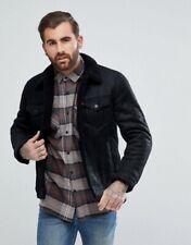 Levis cuero chaqueta de piel de oveja en pequeños | Usado