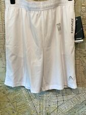 "Mens Tennis Shorts HEAD Breakpoint 9"" S M L XL $40 Stark White  NWT Training Gym"
