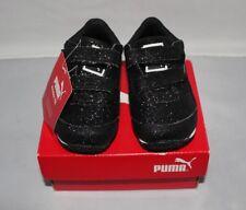 Puma Steeple Black Glitz Glam Kids Sneakers Size 5C