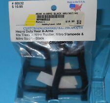 RPM 80532 Rear A-Arms Black (2) Nitro Rustler/Nitro/Stampede/Nitro Sport RC Part