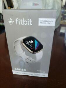 Fitbit Sense Health Watch + ECG App BRAND NEW (Lunar White)