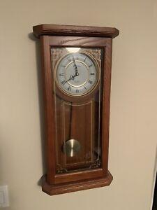 """Bulova C3375 Cirrus Wall Clock, 22"""", Oak"""