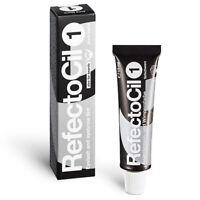 (33,00 € / 100ml) RefectoCil Augenbrauenfarbe und Wimpernfarbe 15 ml tiefschwarz