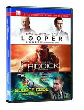 NEW - Looper/Riddick/Source Code Dvd Triple Feature