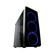 CASE PC GAMING ATX IN VETRO TEMPERATO 3 VENTOLE HALO LUCI LED RGB 3 PORTE USB