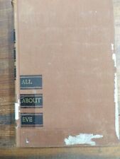 All About Eve Joseph L. Mankiewick 1951 1st Printing Hb Ex-Library