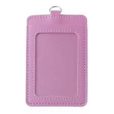 PU Leather ID Card Holder Case Business Exhibition Pass Office Work Supply New