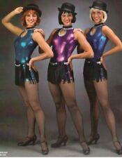 Sizzle Dance Tap Costume BLUE Fringe Wrap Skirt Biketard Acro Jazz Adult Small