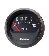Sunpro 2 Voltmeter 12v Black Black Bezel New Cp8215 Authorized Distributor