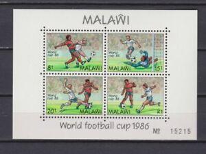 s6060) MALAWI 1986 MNH** WC Football'86- CM Calcio S/S