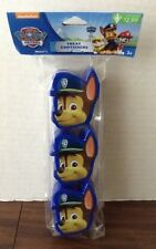 Paw Patrol Chase Treat Containers party favor - 3 pack - NIP