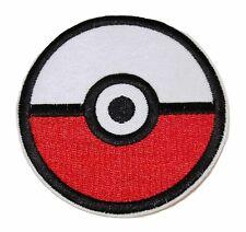 "Pokemon Pokeball 3"" Diameter Embroidered Patch"
