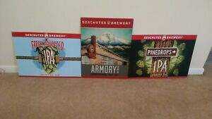 "SET OF 3 -- DESCHUTES 24""x18"" METAL SIGNS. FREE SHIPPING!!"