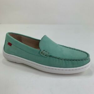Marc Joseph New York Boys Broadway Loafers Shoes Green Leather Slip Ons 2.5