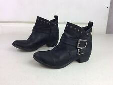 ANA Moto Ankle Boots Front Studs Women's 6