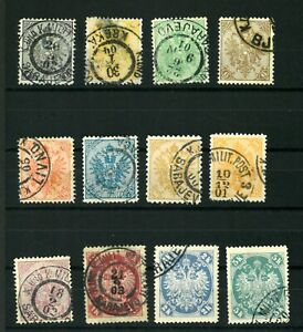 Bosnia   1900-01 Good set stamps  VF used  (201)