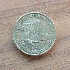 PONTE ferroviario £ 1 Uno Pound Coin 2004 rappresentazione del ponte ferroviario Forth