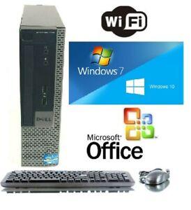 Dell 8GB 500GB + Dell 19 LCD Monitor WiFi + Office Windows 10 or Windows 7 Pro