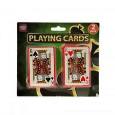 Plastic Coated Poker Size Playing Cards Set