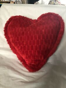 Red Valentine Pillow Quilted Plush