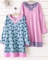 $49 Garnet Hill girl nightgown Llama Lamb SLEEP SHIRT Gown unicorn pink purple