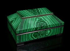 Box made of natural stone from malachite 10