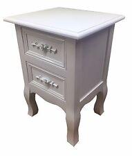 Piccola elegante bianco 2-drawer ARMADIO A shabby chic rose MANIGLIA camera da letto