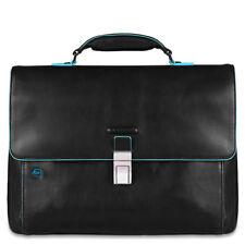 Moda Borsa PIQUADRO Blue Square Cartella Pelle Nero - CA3111B2-N