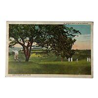 New Panama Golf Club Golfer Vintage Postcard (Unposted) El Nuevo Golf Club