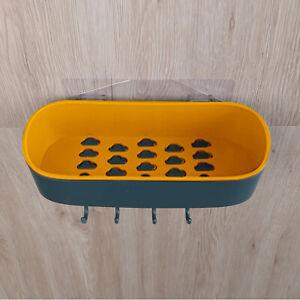 Bathroom Caddy Rack  Suction Shelf Tidy Wall Storage Basket Organiser Rack