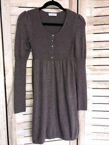 The White Company Ladies Beige Merino Wool Dress Small 10