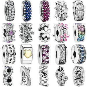 S925 sterling European silver charms Space bead For Silver bracelet chain bangle