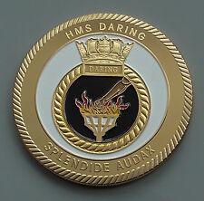 Modern Challenge Coin Medal Medallion HMS Daring Spendide Audax Air Defence Ship