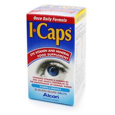 ICaps luteína y zeaxantina fórmula Ojo vitaminas y minerales