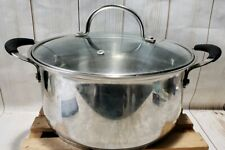 Tramontina 5 Qt Professional Stainless Steel Covered Stock Pot Rivited Handles