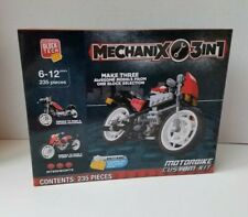 Block Tech Mechanix 3in1 Motorbike Custom Kit 235 Pieces 6-12 Years Intermediate