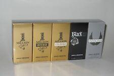 Paco Rabanne 1 ONE MILLION Men 5 Piece Mini Variety Gift Set - New In Box