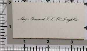 Antik Calling Card Major General G. S.Loughlin